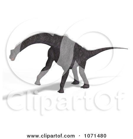 Clipart 3d Prehistoric Brachiosaurus Dinosaur 16 - Royalty Free CGI Illustration by Ralf61
