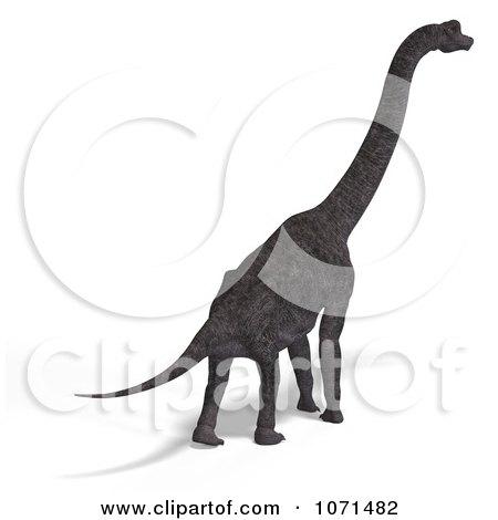 Clipart 3d Prehistoric Brachiosaurus Dinosaur 18 - Royalty Free CGI Illustration by Ralf61