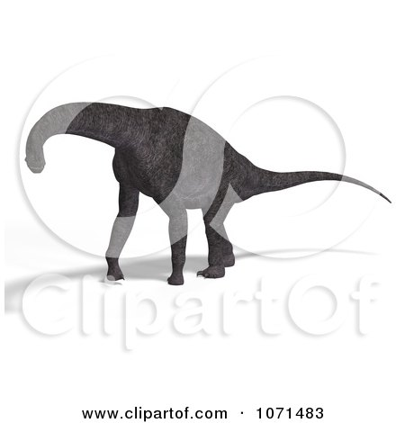 Clipart 3d Prehistoric Brachiosaurus Dinosaur 19 - Royalty Free CGI Illustration by Ralf61