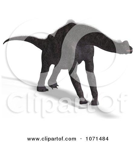 Clipart 3d Prehistoric Brachiosaurus Dinosaur 8 - Royalty Free CGI Illustration by Ralf61