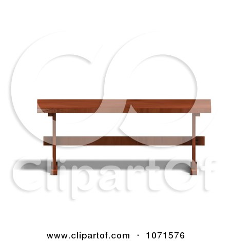 Clipart 3d Wooden Bench 1 - Royalty Free CGI Illustration by Ralf61