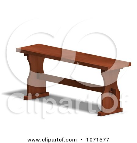 Clipart 3d Wooden Bench 2 - Royalty Free CGI Illustration by Ralf61