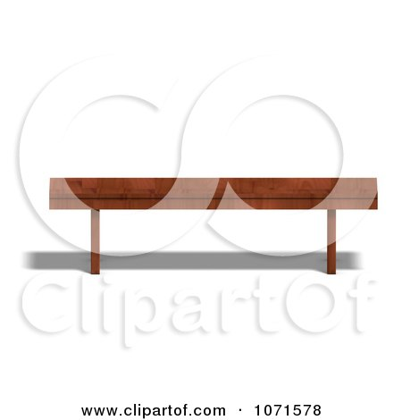 Clipart 3d Wooden Bench 3 - Royalty Free CGI Illustration by Ralf61
