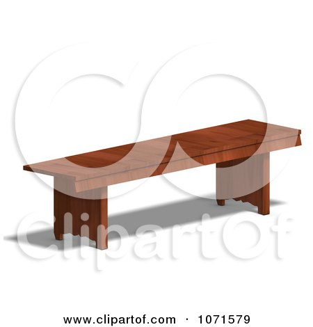 Clipart 3d Wooden Bench 4 - Royalty Free CGI Illustration by Ralf61