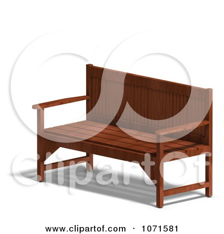 Clipart 3d Wooden Bench 6 - Royalty Free CGI Illustration by Ralf61