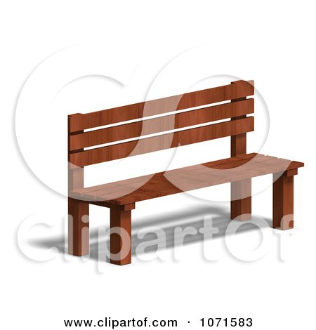 Clipart 3d Wooden Bench 8 - Royalty Free CGI Illustration by Ralf61