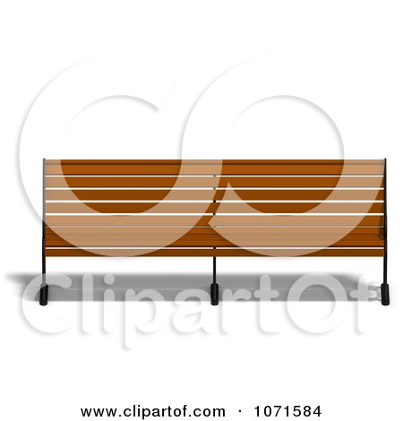 Clipart 3d Wooden Bench 9 - Royalty Free CGI Illustration by Ralf61