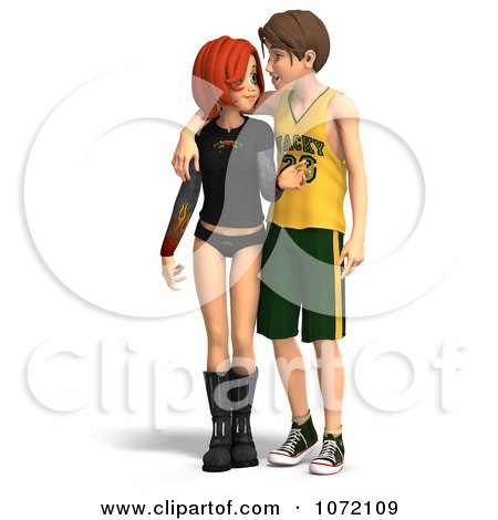 1072109 Clipart 3d Teen Couple Standing Royalty Free CGI Illustration Picture Symbol of a Nude Young ...