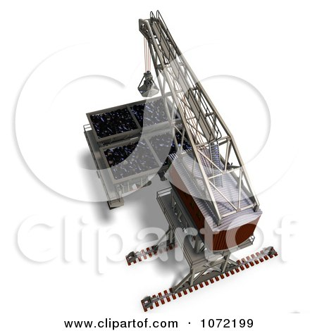 Clipart 3d Industrial Crane And Charger 5 - Royalty Free CGI Illustration by Ralf61