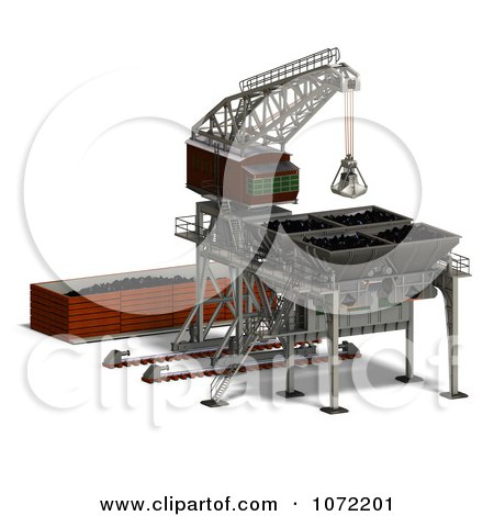 Clipart 3d Industrial Crane And Charger 2 - Royalty Free CGI Illustration by Ralf61