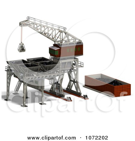 Clipart 3d Industrial Crane And Charger 3 - Royalty Free CGI Illustration by Ralf61