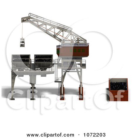 Clipart 3d Industrial Crane And Charger 4 - Royalty Free CGI Illustration by Ralf61