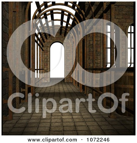Clipart 3d Medieval Fantasy Pathway 1 - Royalty Free CGI Illustration by Ralf61