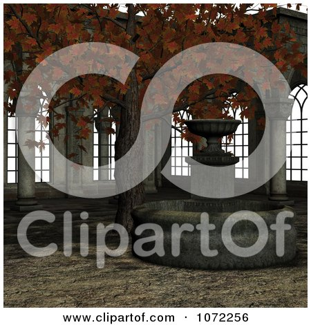 Clipart 3d Medieval Garden Courtyard Scene 4 - Royalty Free CGI Illustration by Ralf61
