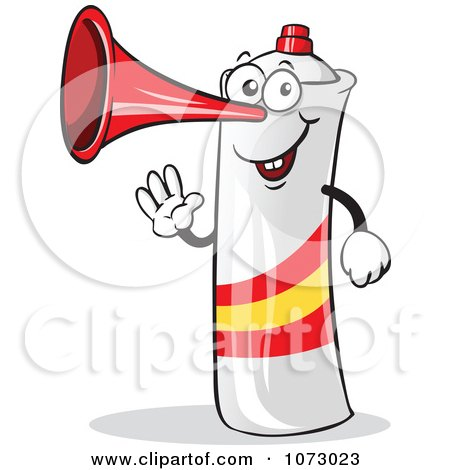 Clipart Spain Air Horn Waving - Royalty Free Vector Illustration by Holger Bogen