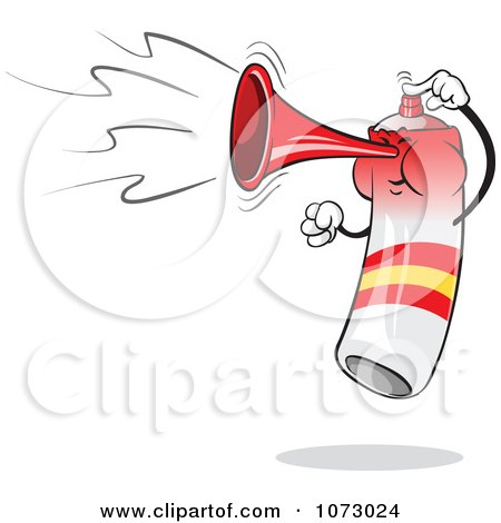 Clipart Spain Air Horn Blowing And Jumping - Royalty Free Vector Illustration by Holger Bogen