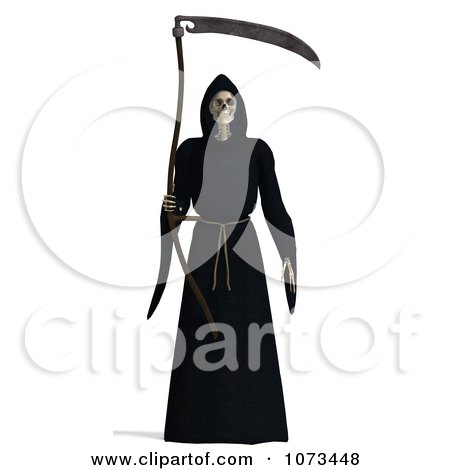 Clipart 3d Grim Reaper Of Death Holding A Scythe 1 - Royalty Free CGI Illustration by Ralf61