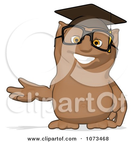 Clipart Cartoon Owl Professor Gesturing 1 - Royalty Free ...