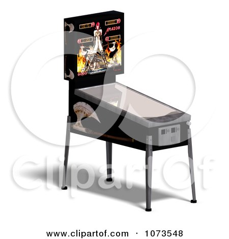 Clipart 3d Black Pinball Arcade Machine 2 - Royalty Free CGI Illustration by Ralf61