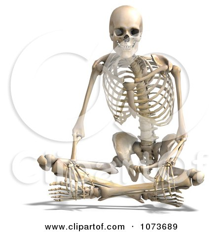 Clipart 3d Human Male Skeleton Sitting - Royalty Free CGI Illustration by Ralf61