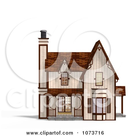 Clipart 3d Medieval Cottage 1 - Royalty Free CGI Illustration by Ralf61
