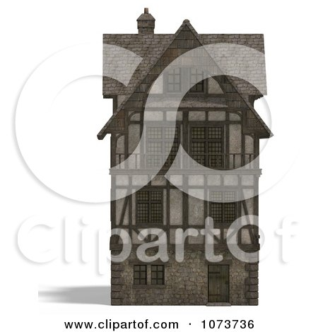 Clipart 3d Large Medieval House 13 - Royalty Free CGI Illustration by Ralf61