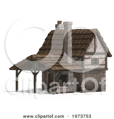 Clipart 3d Medieval Blacksmith Shop Building 2 - Royalty Free CGI Illustration by Ralf61