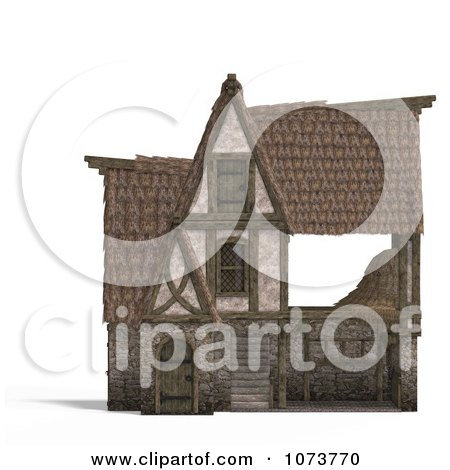 Clipart 3d Medieval Barn Building 1 - Royalty Free CGI Illustration by Ralf61