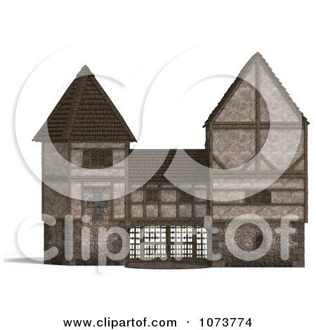 Clipart 3d Medieval Gate Building 1 - Royalty Free CGI Illustration by Ralf61