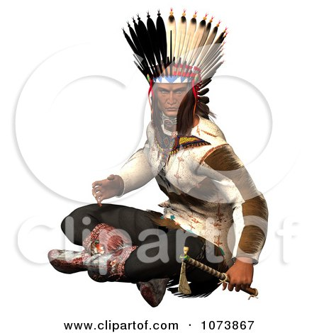 Clipart 3d Young Native American Indian Woman Sitting - Royalty ...