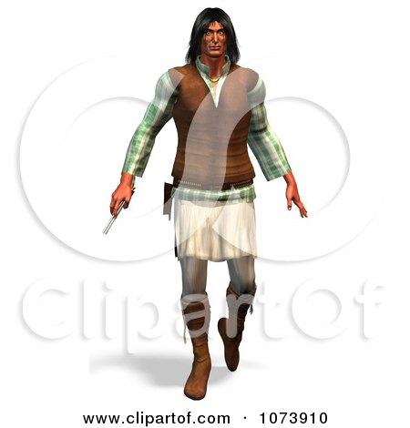 Clipart 3d Kiwa Man Carrying A Pistol - Royalty Free CGI Illustration by Ralf61