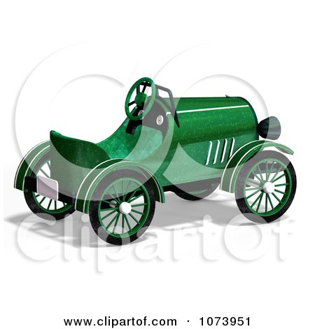 Clipart 3d Vintage Convertible Green Car 3 - Royalty Free CGI Illustration by Ralf61