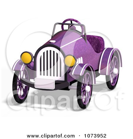 Clipart 3d Vintage Convertible Purple Car 1 - Royalty Free CGI Illustration by Ralf61