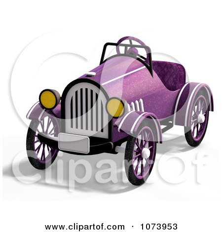 Clipart 3d Vintage Convertible Purple Car 2 - Royalty Free CGI Illustration by Ralf61