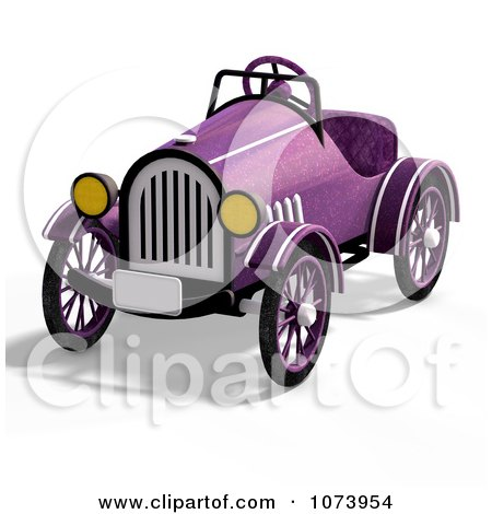 Clipart 3d Vintage Convertible Purple Car 3 - Royalty Free CGI Illustration by Ralf61