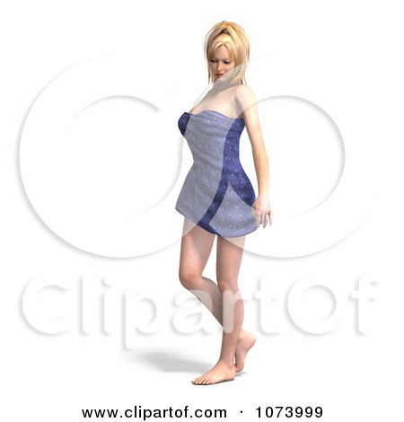 Clipart 3d Sexy Woman Wrapped In A Towel 2 - Royalty Free CGI Illustration by Ralf61