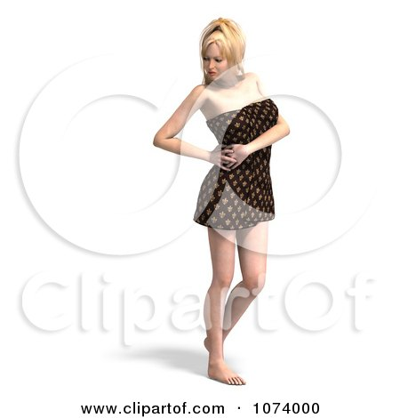 Clipart 3d Sexy Woman Wrapped In A Towel 3 - Royalty Free CGI Illustration by Ralf61