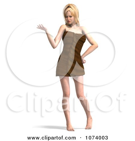 Clipart 3d Sexy Woman Wrapped In A Towel 6 - Royalty Free CGI Illustration by Ralf61