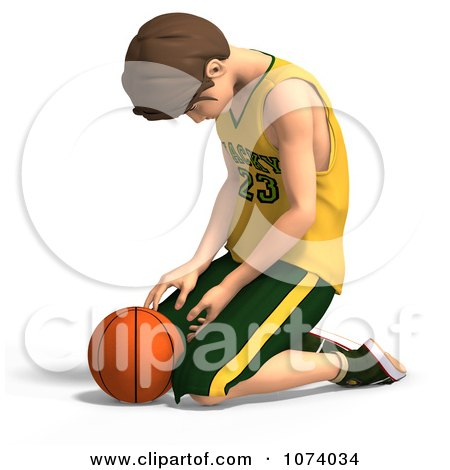 Clipart 3d Teen Basketball Player Boy Pouting - Royalty Free CGI Illustration by Ralf61