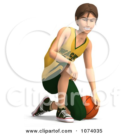 Clipart 3d Teen Basketball Player Boy 2 - Royalty Free CGI Illustration by Ralf61