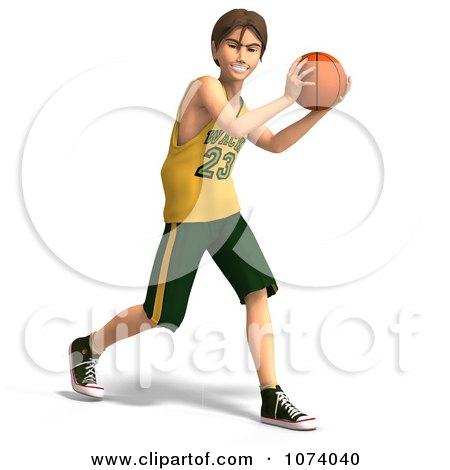 Clipart 3d Teen Basketball Player Boy 3 - Royalty Free CGI Illustration by Ralf61
