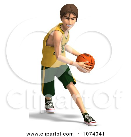 Clipart 3d Teen Basketball Player Boy 4 - Royalty Free CGI Illustration by Ralf61