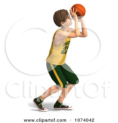 Clipart 3d Teen Basketball Player Boy 5 - Royalty Free CGI Illustration by Ralf61