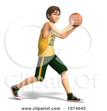 Clipart 3d Teen Basketball Player Boy 6 - Royalty Free CGI Illustration by Ralf61