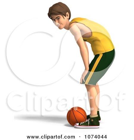 Clipart 3d Teen Basketball Player Boy 7 - Royalty Free CGI Illustration by Ralf61