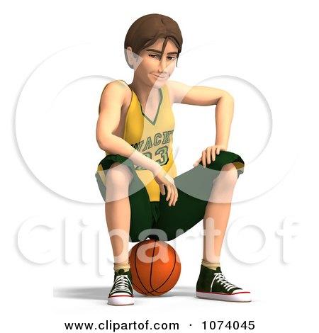 Clipart 3d Teen Basketball Player Boy 8 - Royalty Free CGI Illustration by Ralf61