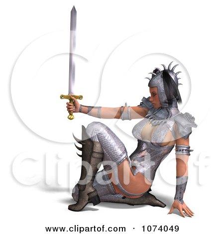 3d Medieval Fantasy Warrior Princess Holding A Sword 5 Posters, Art Prints