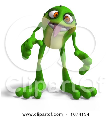 Clipart 3d Frog Sticking His Tongue Out - Royalty Free CGI Illustration by Ralf61