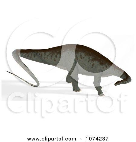 Clipart 3d Prehistoric Apatosaurus Dinosaur 11 - Royalty Free CGI Illustration by Ralf61