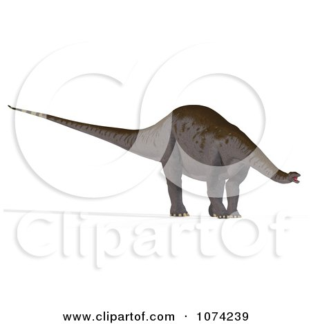 Clipart 3d Prehistoric Apatosaurus Dinosaur 5 - Royalty Free CGI Illustration by Ralf61